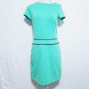 BCBGMAXZRIA Sheath Dress XS Leather Trim Pocket
